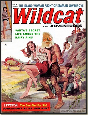 WILDCAT ADVENTURES, June 1960 Xmas spoof, Basil Gogos art REV