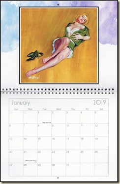 Eva Lynd 2019 calendar - January Eva