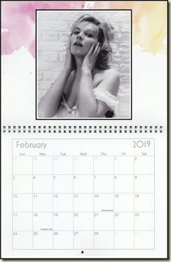 Eva Lynd 2019 calendar - February Eva