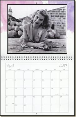 Eva Lynd 2019 calendar - April Eva