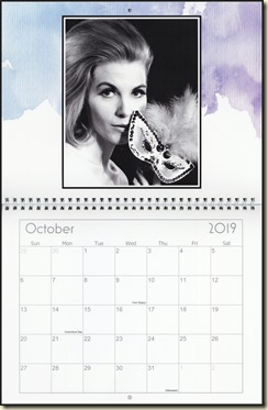 Eva Lynd 2019 calendar - October Eva