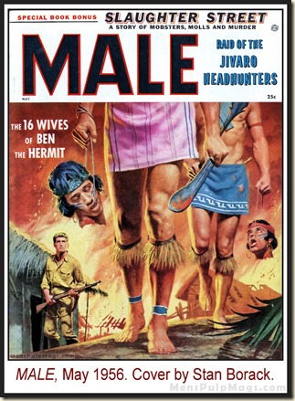 MALE, May 1956, cover by Stan Borack
