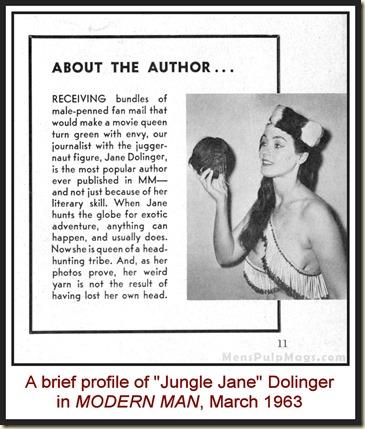 MODERN MAN - 1963 03 March - Jungle Jane Dolinger story
