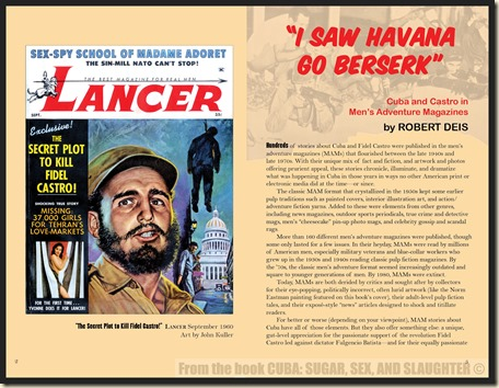 CUBA in Men's Adventure Magazines p2&3 WM