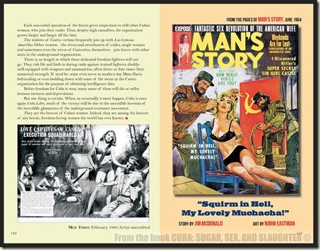 CUBA in Men's Adventure Magazines p132 & 133 WM