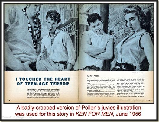 KEN FOR MEN, June 1956 - Samson Pollen illustration WM