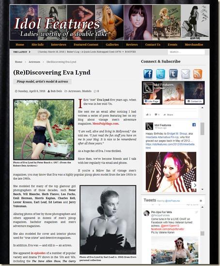 IdolFeatures.com (Re)Discovering Eva Lynd