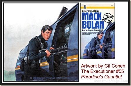 Executioner #55, art by Gil Cohen, MensPulpMags.com