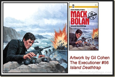 Executioner #56, art by Gil Cohen - MensPulpMags.com REV2