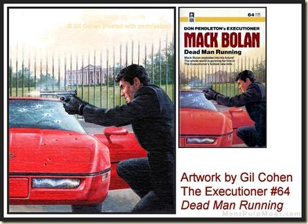 Executioner #64, art by Gil Cohen, MensPulpMags.com