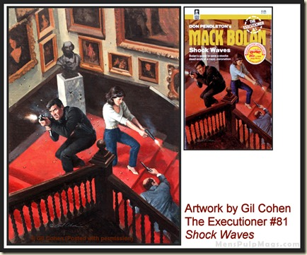 Executioner #81, art by Gil Cohen, MensPulpMags.com