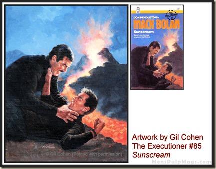 Executioner #85, art by Gil Cohen, MensPulpMags.com