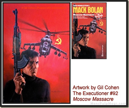 Executioner #92, art by Gil Cohen, MensPulpMags.com