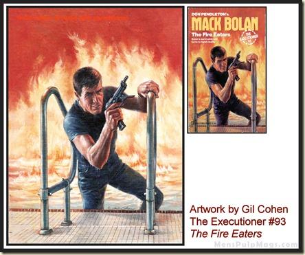 Executioner #93, art by Gil Cohen, MensPulpMags.com