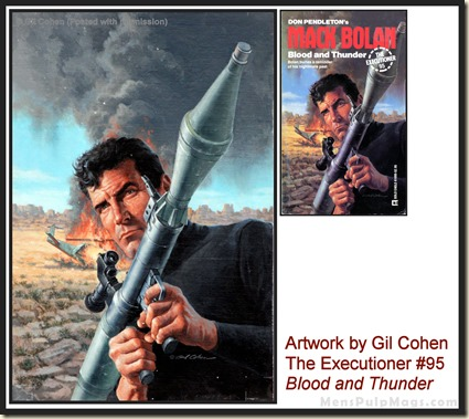 Executioner #95, art by Gil Cohen, MensPulpMags.com