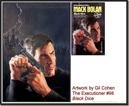 Executioner #98, art by Gil Cohen, MensPulpMags.com
