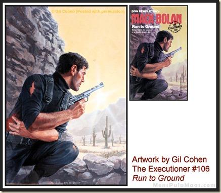 Executioner #106, art by Gil Cohen, MensPulpMags.com