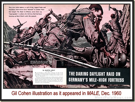 MALE, Dec 1960 - art by Gil Cohen copy in mag bd