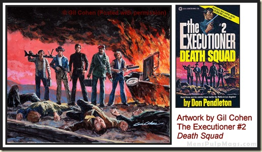 Executioner #2, art by Gil Cohen - MensPulpMags.com REV
