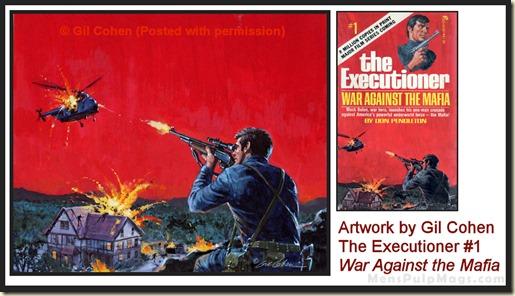 Executioner #1 art by Gil Cohen - MensPulpMags.com REV
