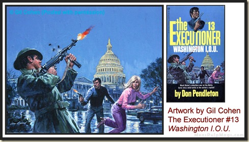 Executioner #13, art by Gil Cohen - MensPulpMags.com REV3