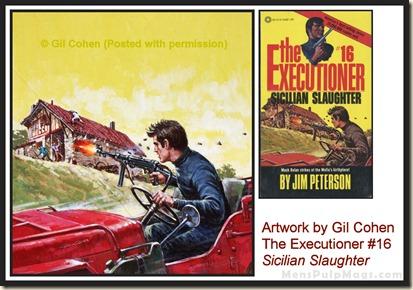 Executioner #16, art by Gil Cohen - MensPulpMags.com REV