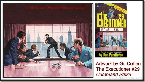 Executioner #29, art by Gil Cohen - MensPulpMags.com REV