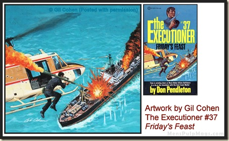 Executioner #37, art by Gil Cohen - MensPulpMags.com rev