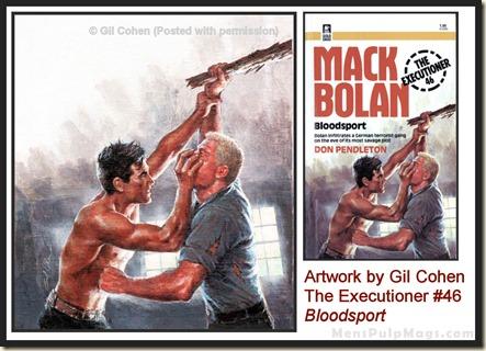 Executioner #46, art by Gil Cohen, MensPulpMags.com