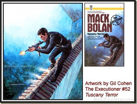 Executioner #52, art by Gil Cohen, MensPulpMags.com REV