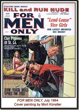 FOR MEN ONLY, July 1964, cover by Mort Kunstler WM2