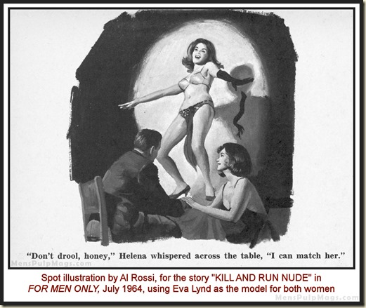 FOR MEN ONLY, July 1964 - Al Rossi art, model Eva Lynd 05a WM