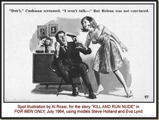 FOR MEN ONLY, July 1964 - Al Rossi art, model Eva Lynd 07a WM