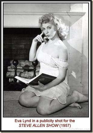 Eva Lynd publicity photo for the STEVE ALLEN SHOW, 1957