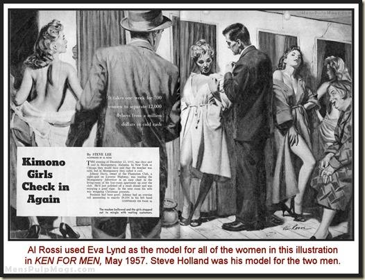 KEN FOR MEN, May 1957, art by Al Rossi