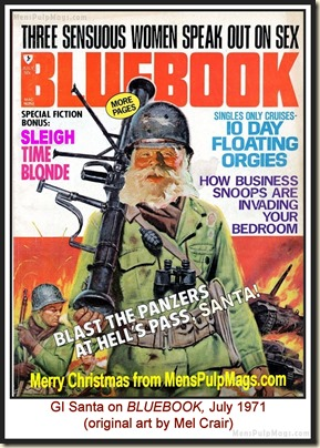 BLUEBOOK, July 1971, spoof cover MPM