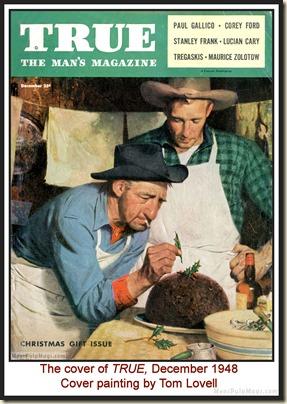 TRUE, Dec 1948, cover by Tom Lovell MPM