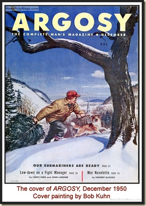 ARGOSY, December 1950 - cover by Bob Kuhn MPM