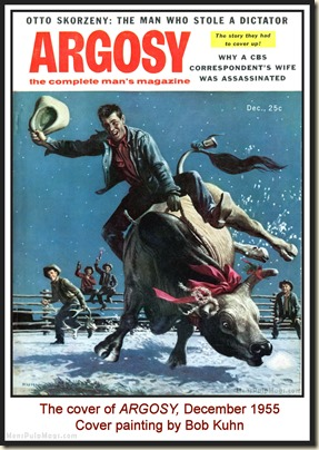 ARGOSY, Dec 1955 - cover by Bob Kuhn MPM