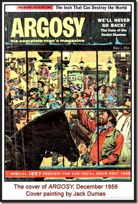 ARGOSY, Dec 1956 - Cover by Jack Dumas MPM