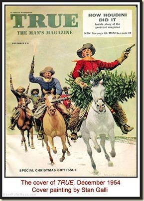 TRUE , Dec 1954 - cover by Stan Galli MPM
