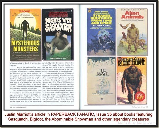 PAPERBACK FANATIC, Issue 35, Bigfoot wm