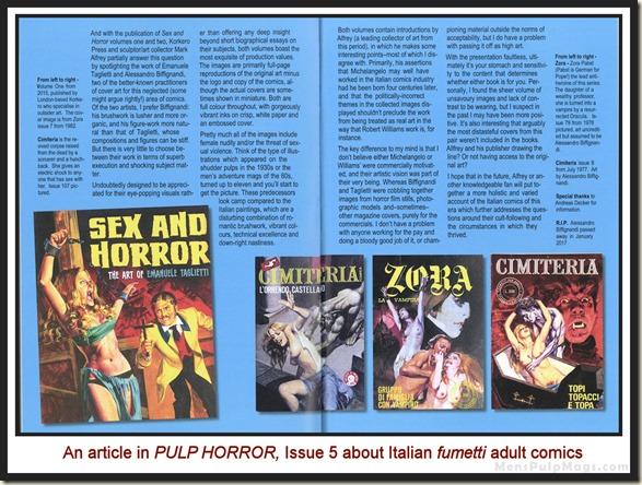 PULP HORROR, issue 5, Fumetti