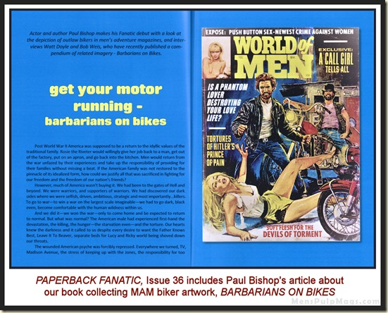 PAPERBACK FANATIC 36, BARBARIANS ON BIKES
