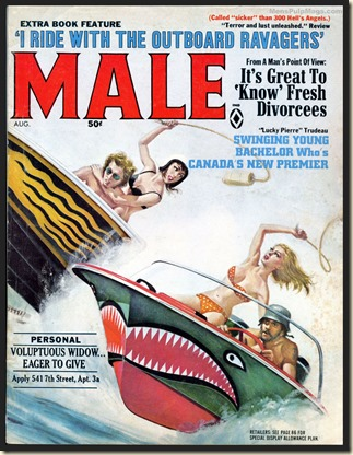 MALE - 1968 08 Aug - cover by Mort Kunstler WM bb