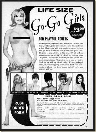MAN'S ACTION - 1971 09 Sept - Go Go girl doll ad bb