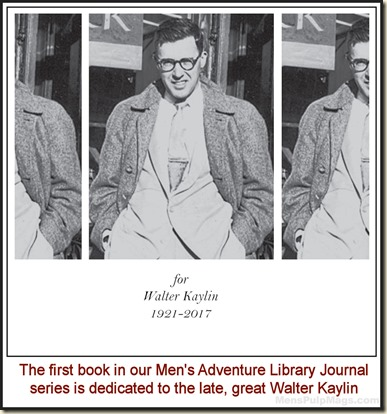 Walter Kaylin book dedication