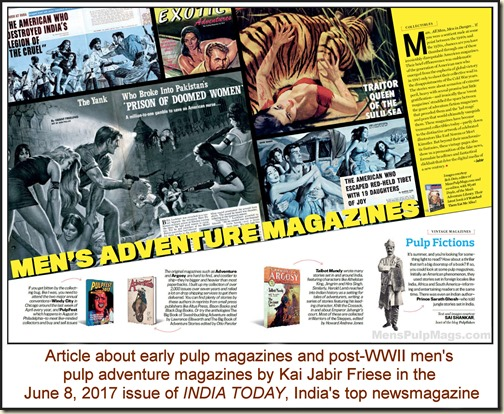 Pulp mag article in INDIA TODAY, June 2017 WM
