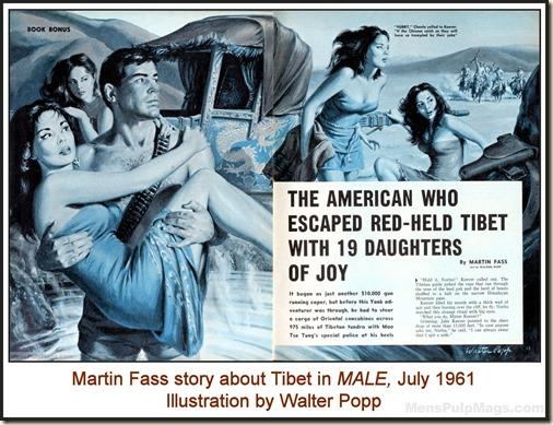 MALE, July 1961. Art by Walter Popp WM