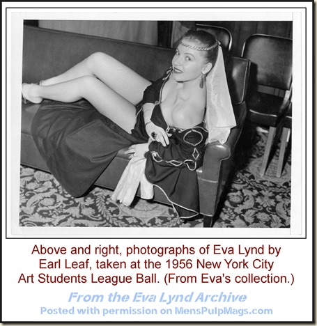 Eva Lynd at 1956 Art Students League, photo by Earl Leaf 01